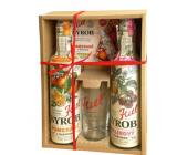 Kitl Syrob Bio Malina s dužinou sirup 500 ml + Pomeranč s dužinou sirup 500 ml + sklenička 200 ml, dárkové balení