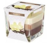 Bispol Vanilla - Vanilka tříbarevná vonná svíčka sklo, doba hoření 32 hodin 170 g