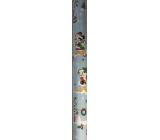 Ditipo Dárkový balicí papír 70 x 200 cm Vánoční Disney Mickey Minnie kačer Donald světle modrý