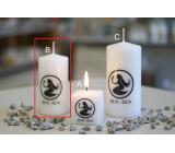 Lima Horoskop Panna svíčka válec 50 x 100 mm 1 kus