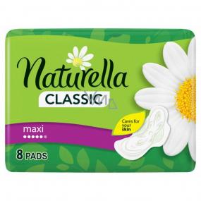 Naturella Classic Maxi hygienické vložky s vůní heřmánku a křidélky 8 kusů
