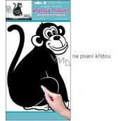 Samolepka tabulka na psaní křídou opice 49 x 29 cm 1 arch