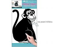Room Decor Samolepka tabulka na psaní křídou opice 49 x 29 cm 1 arch