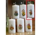 Lima Jarní motiv Zajíček svíčka bílá válec 50 x 100 mm 1 kus