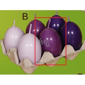 Lima Vajíčko s vůní svíčka fialová 40 x 60 mm 1 kus