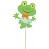 Zápich z filcu žába 8 cm + špejle