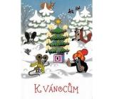 Albi Hrací přání do obálky K Vánocům Krtek Silent Night 14,8 x 21 cm