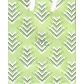 Nekupto Dárková papírová taška malá 14 x 11 x 6,5 cm zelená 1736 50 KFS