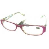 Berkeley Čtecí dioptrické brýle +1,5 plast růžové stranice s obdelníky 1 kus MC2084