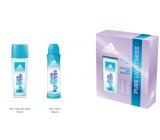 Adidas Pure Lightness parfémovaný deodorant sklo 75 ml + deodorant sprej 150 ml, kosmetická sada pro ženy