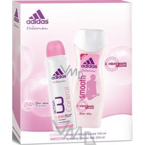 Adidas Action 3 Control deodorant antiperspirant sprej150 ml + sprchový gel 250 ml, dárková sada