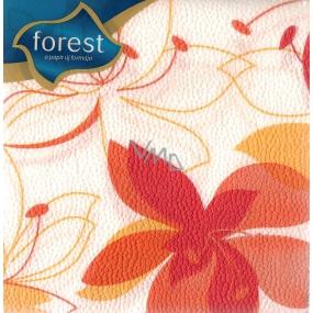 Forest Papírové ubrousky Oranžový květ 1 vrstvé 30 x 30 cm 45 kusů