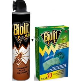 Biolit Plus Stop pavoukům spray 400 ml + Biolit polštářky do elektrického odpuzovače komárů náplň 20 kusů
