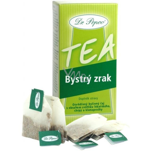 Dr.Popov Bystrý zrak bylinný čaj s obsahem světlíku lékařského 20 x 1,5 g