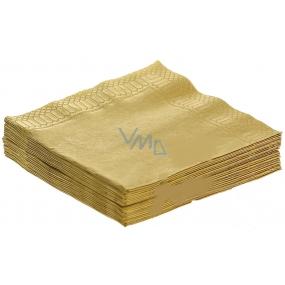 Party Papírové ubrousky barevné zlaté 3 vrstvé 33 x 33 cm 20 kusů