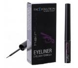 FacEvolution Hairplus Eyeliner Vyživující tekuté oční linky k prodloužení a řastu řas Hnědá, 4,5 ml