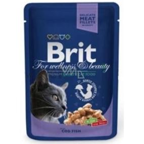 Brit Premium Cat Treska v omáčce masová kapsička pro dospělé kočky 100g Kompletní krmivo