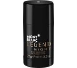 Montblanc Legend Night deodorant stick pro muže 75 g