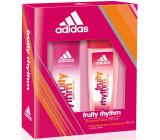 Adidas Fruity Rhythm parfémovaný deodorant sklo 75 ml + deodorant sprej 150 ml, kosmetická sada