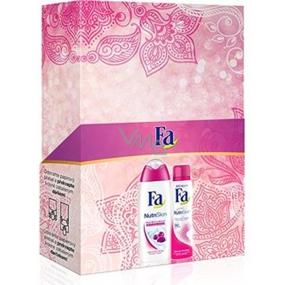 Fa NutriSkin Moisturising Acai Berry sprchový gel 250 ml + deodorant sprej 150 ml, pro ženy kosmetická sada