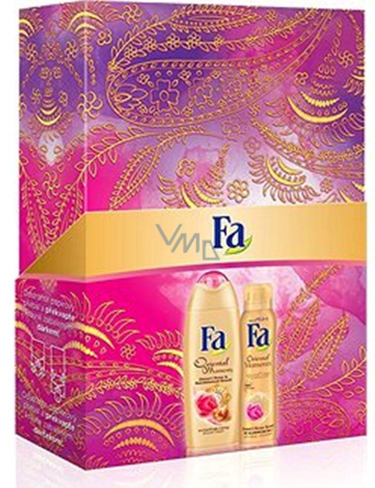 Fa Oriental Moments Desert Rose & Sandalwood Scents sprchový gel 250 ml + deodorant sprej 150 ml, pro ženy kosmetická sada