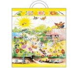Velikonoční igelitová taška s uchem Dvorek 48 x 45 x 6 cm