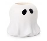 Yankee Candle Halloween Glowing Ghost keramický svícen na čajovou svíčku malý 12 x 12 cm