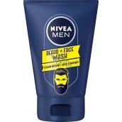 Nivea Men Beard + Face mycí gel na tvář a vousy 100 ml