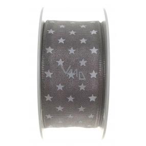 Ditipo Nordic stuha šedá bílé hvězdičky 2 m x 25 mm