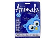 MasqueBar Pretty Animalz Sova textilní pleťová hydratační maska 21 ml