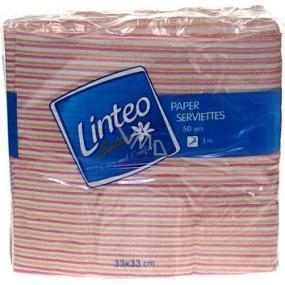 Linteo Satin papírové ubrousky 33 x 33 cm 50 kusů proužkované