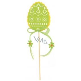 Vajíčko z filcu zelené 8 cm + špejle