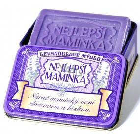 Albi Relax Levandulové mýdlo v plechovce s textem Nejlepší maminka 8 x 5,4 cm