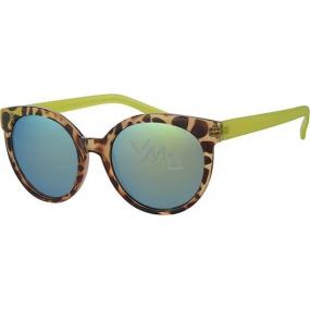 Nae New Age A40252 leopardí žluté sluneční brýle