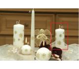 Lima Vločka svíčka bílá válec 50 x 100 mm 1 kus