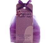 Bomb Cosmetics Černý rybíz - Berrylicious Sprchové masážní mýdlo 140 g