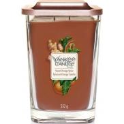 Yankee Candle Sweet Orange Spice - Sladký pomeranč a koření sojová vonná svíčka Elevation velká sklo 2 knoty 553 g