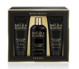 Baylis & Harding Černý pepř a Ženšen 2v1 šampon a sprchový gel 300 ml + sprchový gel 200 ml + balzám po holení 200 ml, kosmetická sada pro muže