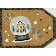 Nekupto Vánoční kartičky na dárky chaloupka 5,5 x 7,5 cm 6 kusů