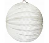 Lampion kulatý bílý 21 cm