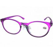 Berkeley Čtecí dioptrické brýle +1,0 plast fialové, kulaté skla 1 kus MC2171