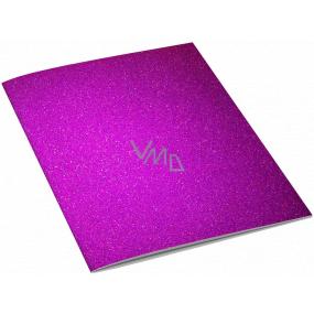 Ditipo Sešit Glitter Collection A4 linkovaný tmavě růžový 21 x 29 cm 3424