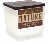 Heart & Home Nature Růžové dřevo a vanilka vonná svíčka malá sklo, doba hoření až 20 hodin 90 g