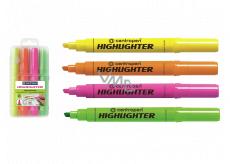 Centropen Zvýrazňovač Highlighter 8552 1-4 mm v etui, 4 barvy
