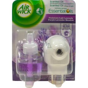 Air Wick Purple Levandulové louky Lavender Meadow elektrický osvěžovač vzduchu komplet 19 ml