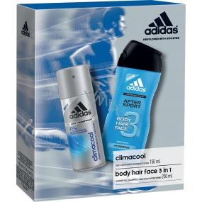 Adidas Climacool deodorant antiperspirant sprej 150 ml + After Sport sprchový gel 250 ml, pro muže kosmetická sada