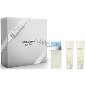 Dolce & Gabbana Light Blue toaletní voda pro ženy 100 ml + tělový krém 100 ml + sprchový gel 100 ml, dárková sada