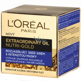 Loreal Paris Nutri-Gold Extraordinary rozjasňující noční krém s intenzitou masky 50 ml