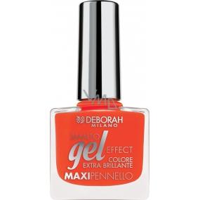Deborah Milano Gel Effect Nail Enamel gelový lak na nehty 10 Coral Flash 11 ml