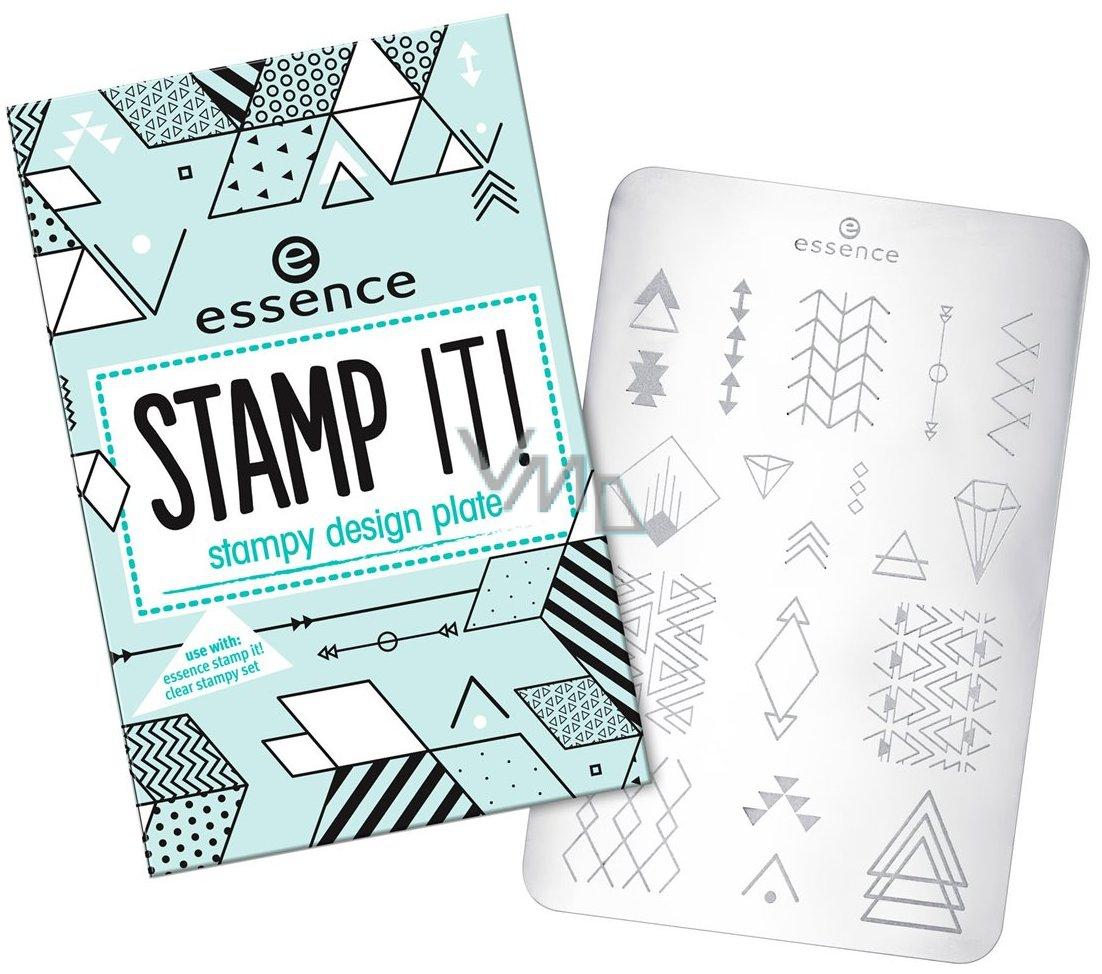 Essence Stamp It šablony Na Razítko 02 Shapes Of Glory Fun